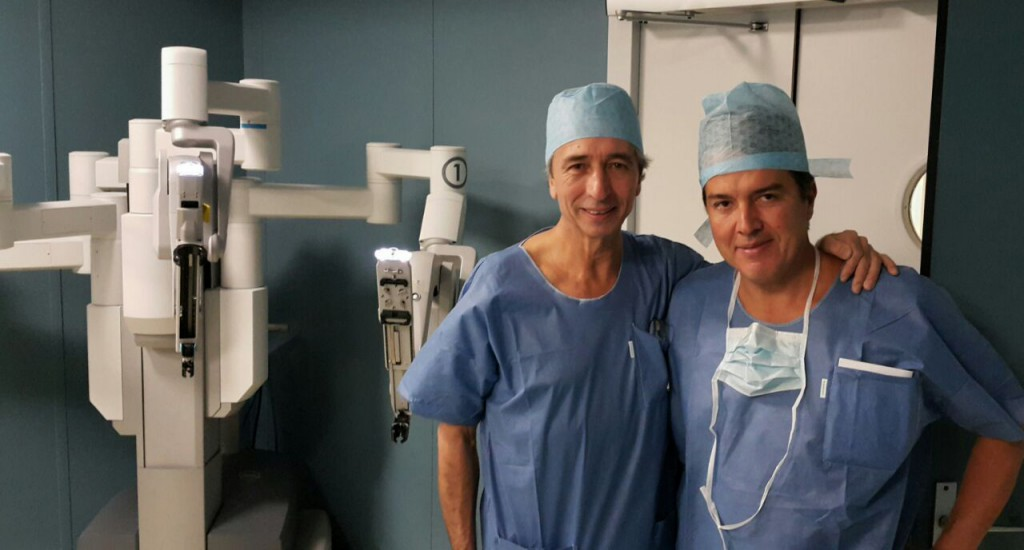 With Dr. Thierry Piechaud